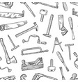 hand drawn carpentry elements pattern or vector image vector image