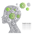 Head of person is full of fine ideas creative car vector image vector image