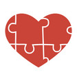 heart puzzle a heart vector image vector image