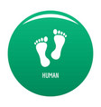 human step icon green vector image