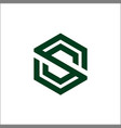initial s hexagon logo design vector image vector image