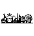 london - silhouette vector image vector image
