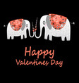 love elephants greeting vector image