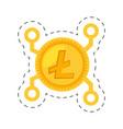 money litecoin golden digital vector image vector image