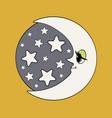 moon and stars night vector image