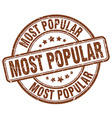 most popular brown grunge round vintage rubber vector image vector image