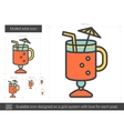 Mulled wine line icon vector image