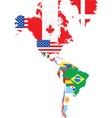 North and South America vector image vector image