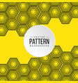pattern yellow honeycomb background image vector image