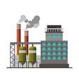 power refinery plant industrial factory building vector image vector image
