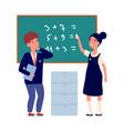 preschool education back to school boy girl wear vector image