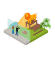 public zoo concept 3d isometric view vector image vector image