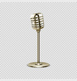 realistic microphone vintage voice device vector image vector image