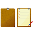 red pencil to clipboard vector image vector image