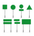 road board highway signs icons street signboard vector image