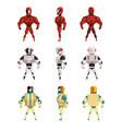 robot ostumes set superhero man vector image