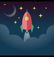 rocket launch startup concept vector image