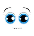 Sad emoticon sign vector image vector image
