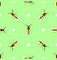 seamless pattern with wasps and circles vector image vector image