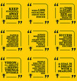 Set of motivational quotes about statistics dreams vector image vector image