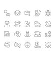 set simple icons electric vehicle vector image