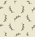 small branches pattern in hand drawn style with vector image vector image