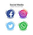 social media logo collection vector image vector image