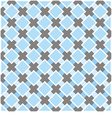 Sweet blue white and dark grey background plaid vector image