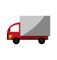 truck flat shadow vector image vector image