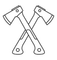 Two axes icon outline style vector image vector image