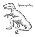 tyrannosaurus rex or t-rex dinosaur sketch vector image
