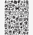video games symbols set design elements vector image