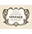 vintage rococo retro frame ornament vector image vector image