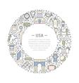 Web Banner or Emblem USA vector image vector image