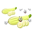 Whole and sliced zucchini vegetable vector image vector image