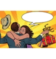 wife thanks husband for the gift vector image vector image