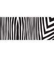 wild zebra wave pattern with black and white vector image vector image