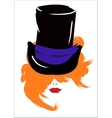 Woman in a Hat vector image