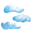 Set of clouds in the style of low poly vector image