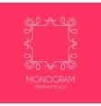Simple monogram design template vector image