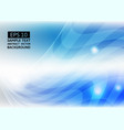 line wave blue color abstract background vector image