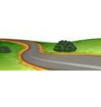 a rural road scene vector image vector image