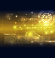 abstract hi-tech background in gold color vector image vector image
