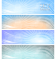 Abstract sky banners vector image vector image
