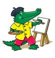 alligator artist animal and profession alphabet