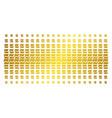 analytics chart golden halftone matrix vector image vector image