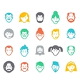 Avatar and people icons vector image