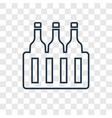 beer concept linear icon isolated on transparent vector image vector image