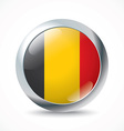 Belgium flag button vector image