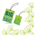big spring sale tag price flowers vector image